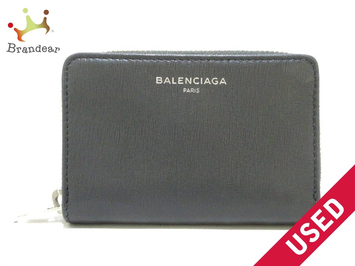 BALENCIAGA(バレンシアガ) コインケース美品■ - 452503 ダークグレー レザー【中古】
