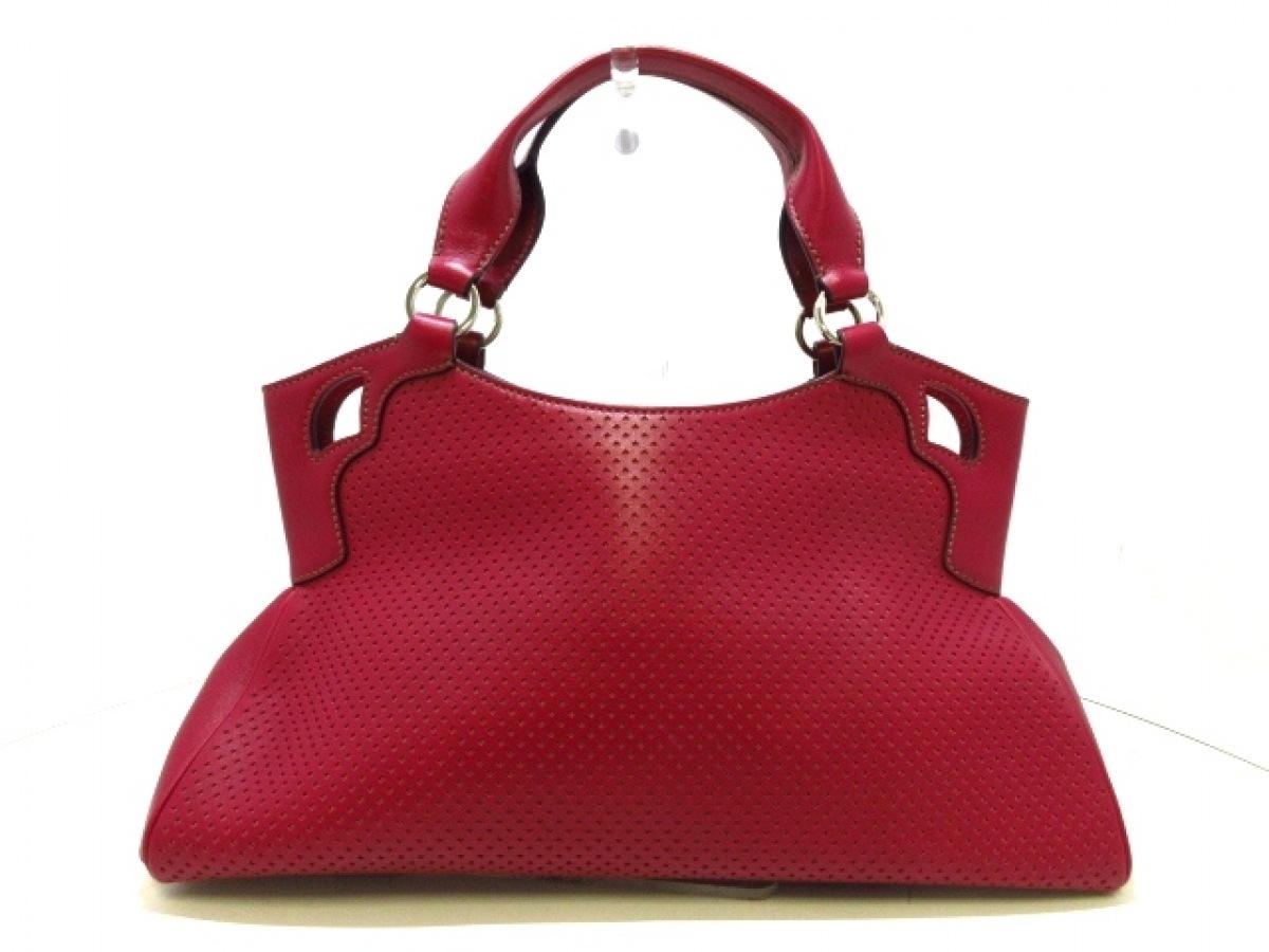 Cartier(カルティエ) ハンドバッグ マルチェロ ピンク パンチング レザー【中古】