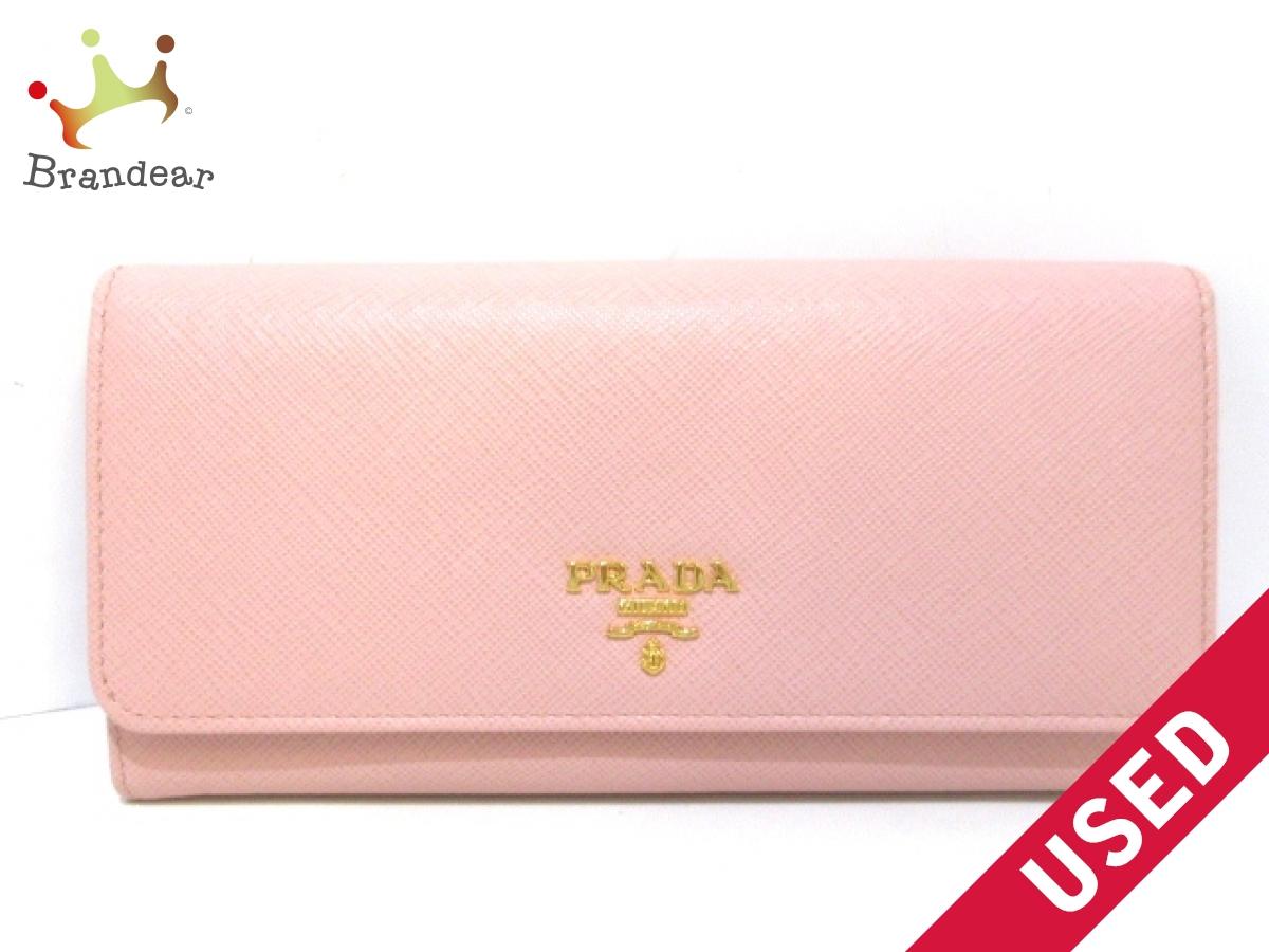 PRADA(プラダ) 長財布美品■ - 1MH132 ピンク サフィアーノレザー【中古】