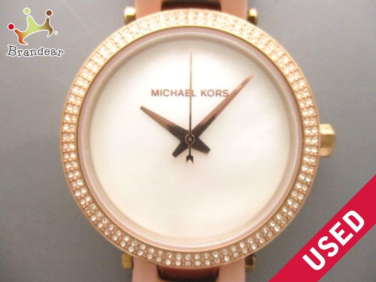 MICHAEL KORS(マイケルコース) 腕時計 MK-2590 レディース シェルホワイト【中古】