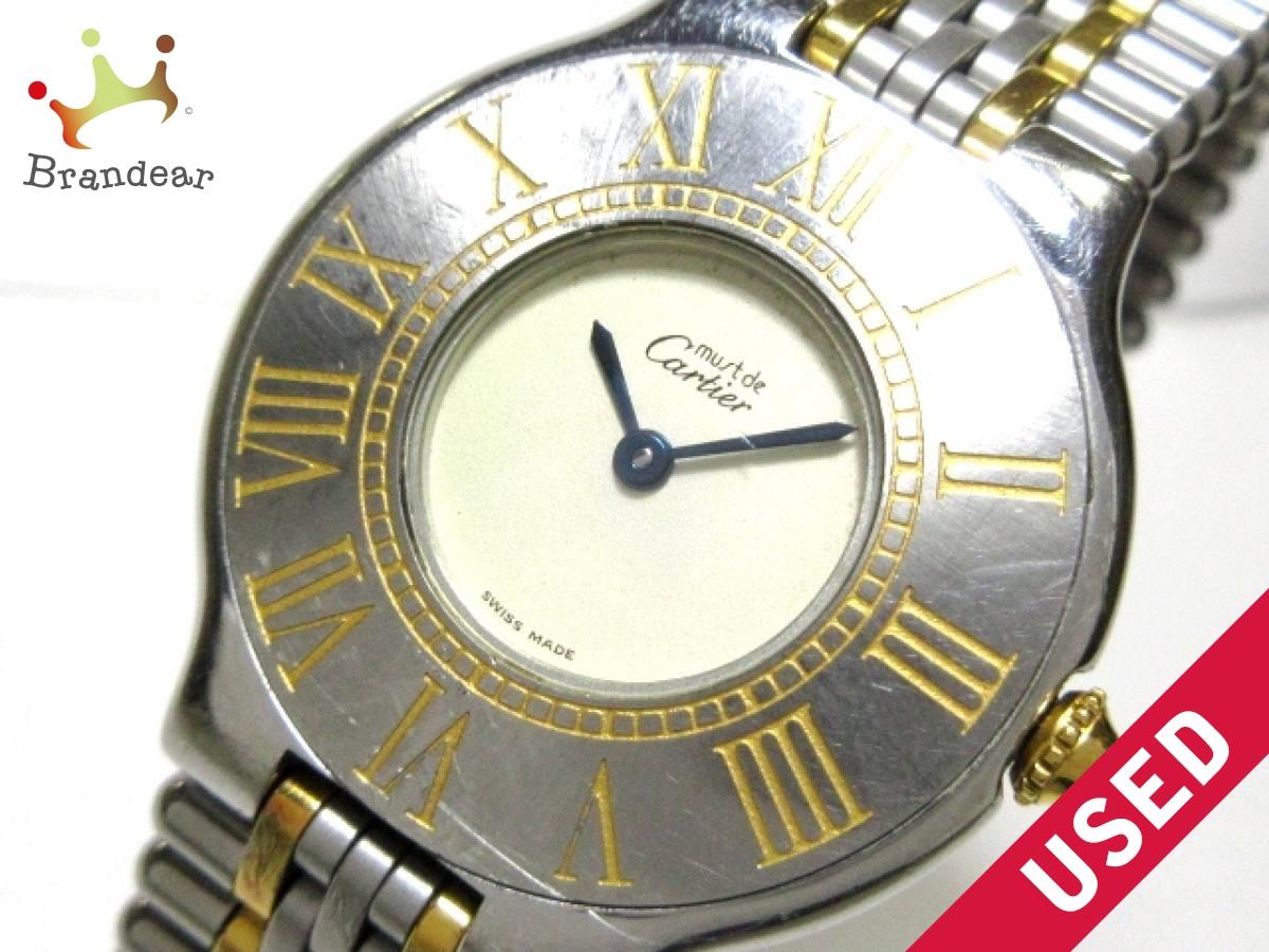 Cartier(カルティエ) 腕時計 マスト21LM - メンズ アイボリー【中古】