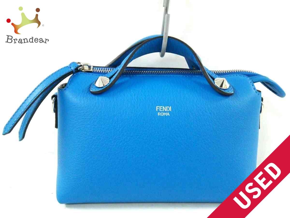 FENDI(フェンディ) ハンドバッグ美品■ ミニバイザウェイ 8BL135 ブルー レザー【中古】