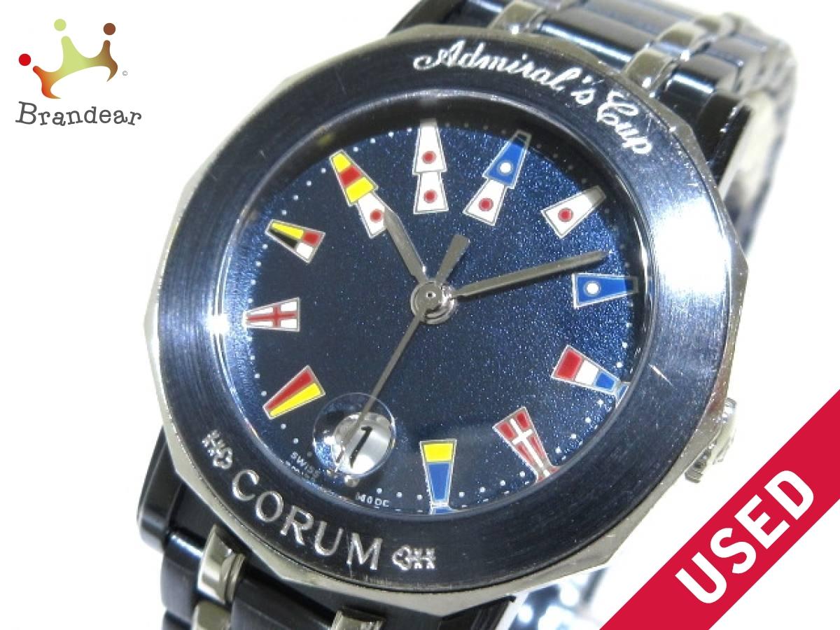 CORUM(コルム) 腕時計 アドミラルズカップ 39.130.30.V585 レディース ガンブルー【中古】