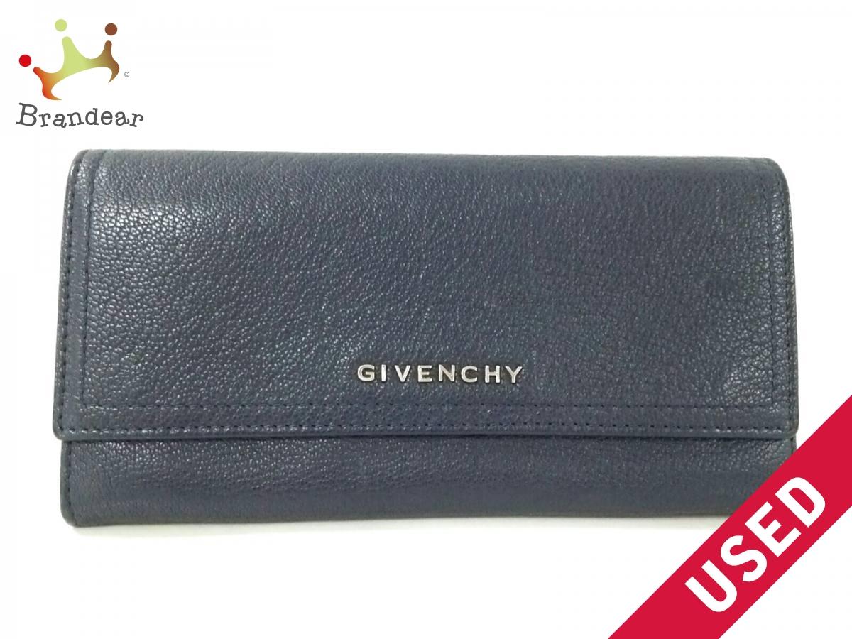 GIVENCHY(ジバンシー) 長財布美品■ 黒 レザー【中古】