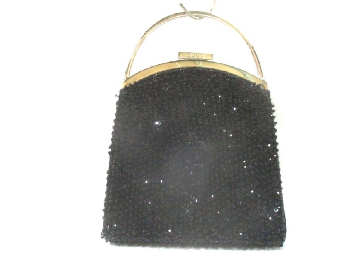 GUCCI(グッチ) ハンドバッグ - - 黒×シルバー ビーズ 化学繊維×スパンコール×金属素材【中古】