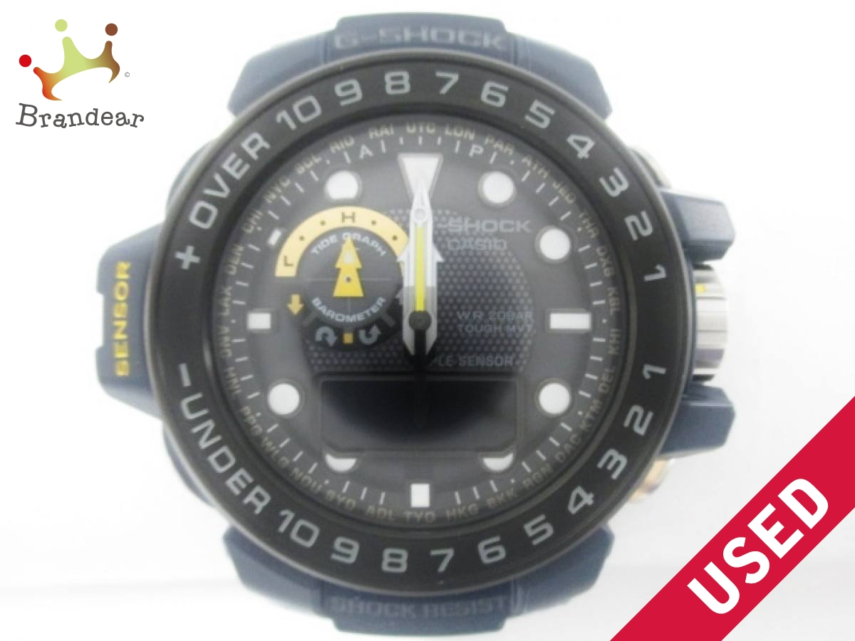 CASIO(カシオ) 腕時計美品■ G-SHOCK/ガルフマスター GWN-1000NV メンズ 黒【中古】