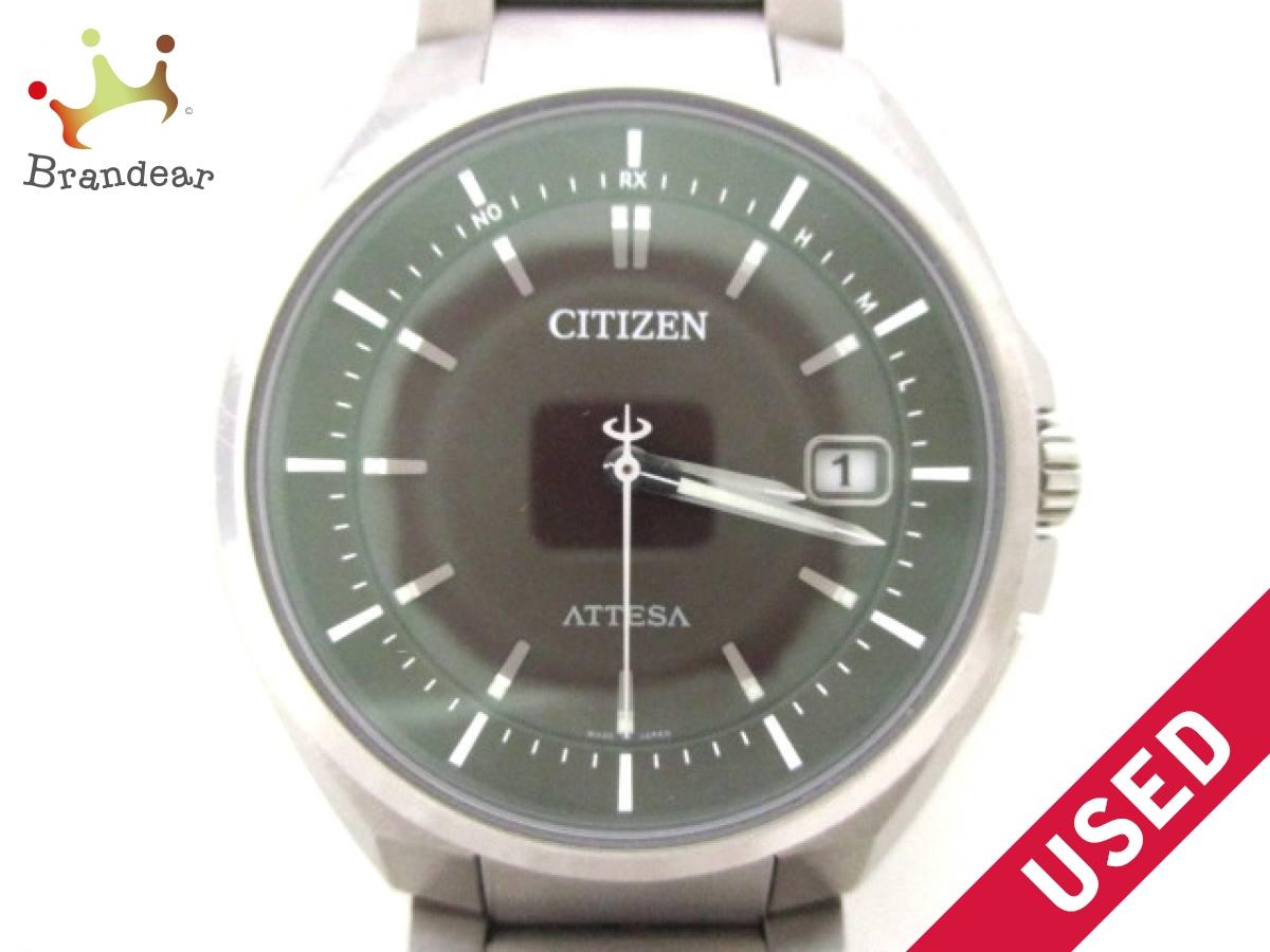 CITIZEN(シチズン) 腕時計 アテッサ H110-T016308 メンズ 黒【中古】