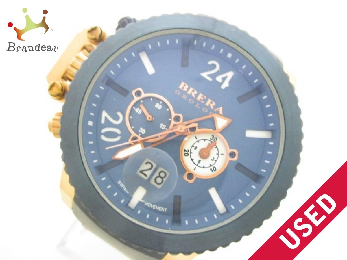 BRERA OROLOGI(ブレラオロロジ) 腕時計美品■ AE09 BRML2C48 メンズ ネイビー【中古】