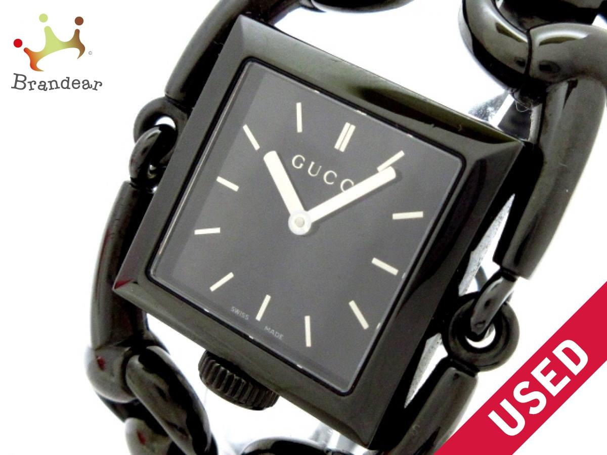 GUCCI(グッチ) 腕時計 シニョーリア 116.3 レディース 黒【中古】