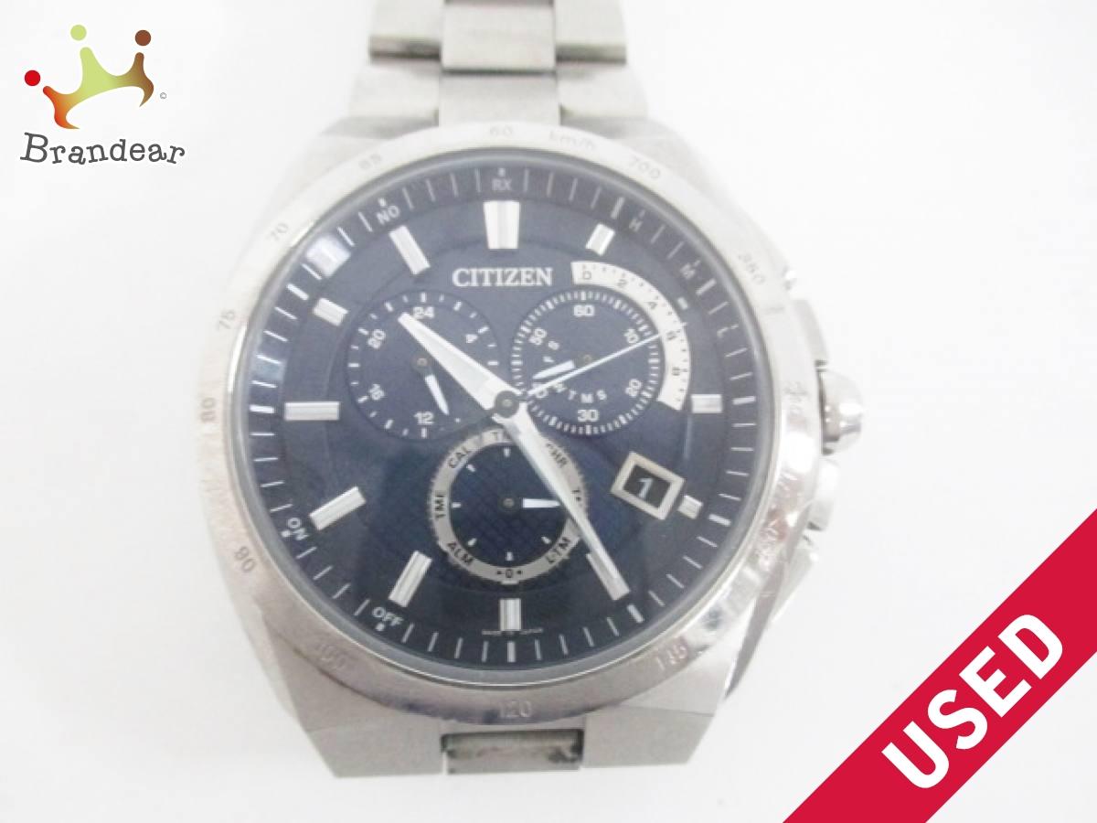 CITIZEN(シチズン) 腕時計 エコドライブ E610-T018505 メンズ ダークネイビー【中古】