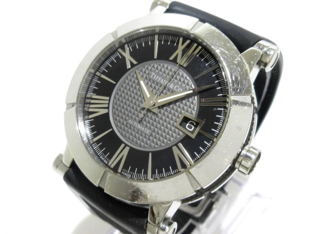 TIFFANY&Co.(ティファニー) 腕時計 アトラスジェント Z1000.70.12A10A91A メンズ SS/裏スケ/ラバーベルト シルバー×黒【中古】
