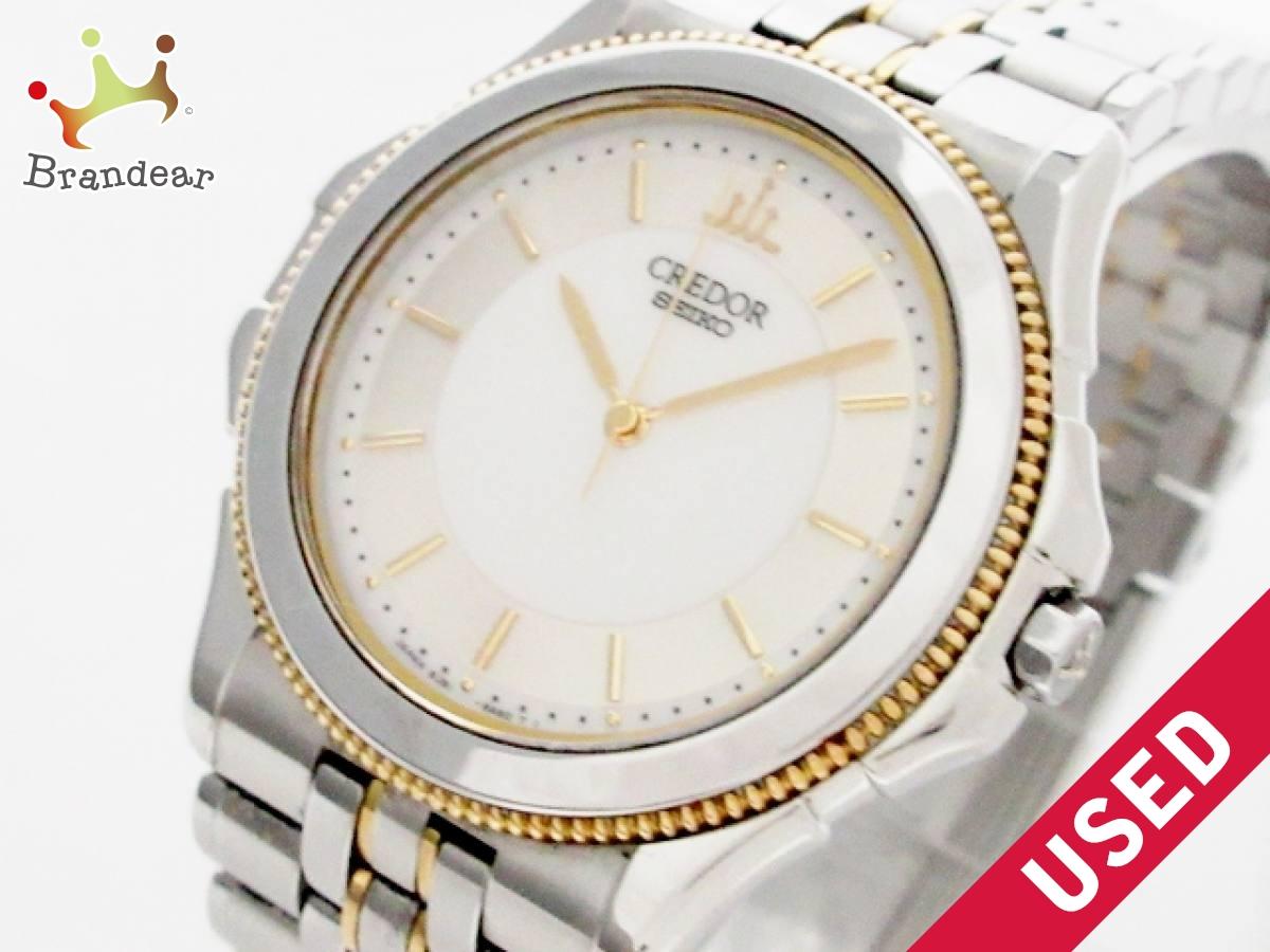SEIKO CREDOR(セイコークレドール) 腕時計 パシフィーク 8J81-6A20 ボーイズ 白×シルバー【中古】