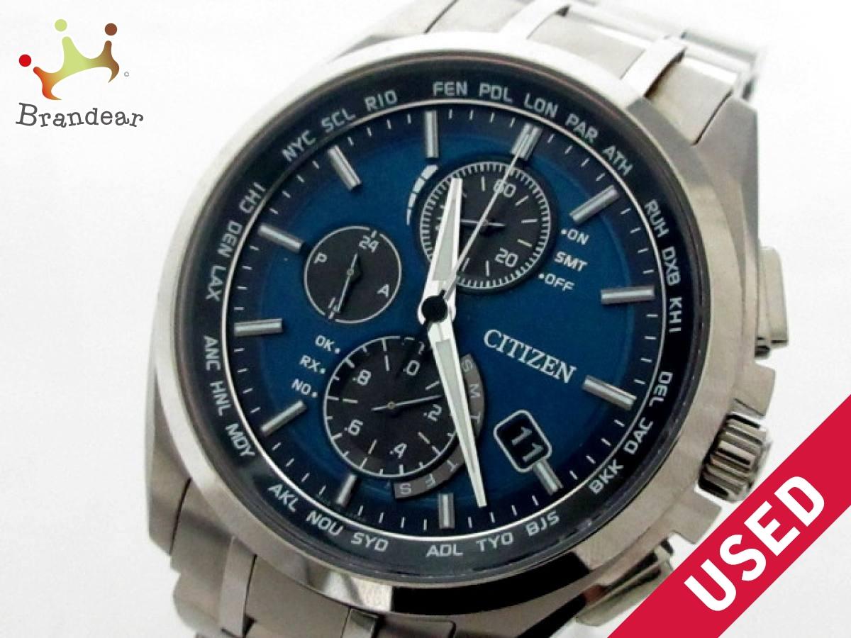 CITIZEN(シチズン) 腕時計美品■ アテッサ H804-T018696 メンズ ネイビー【中古】