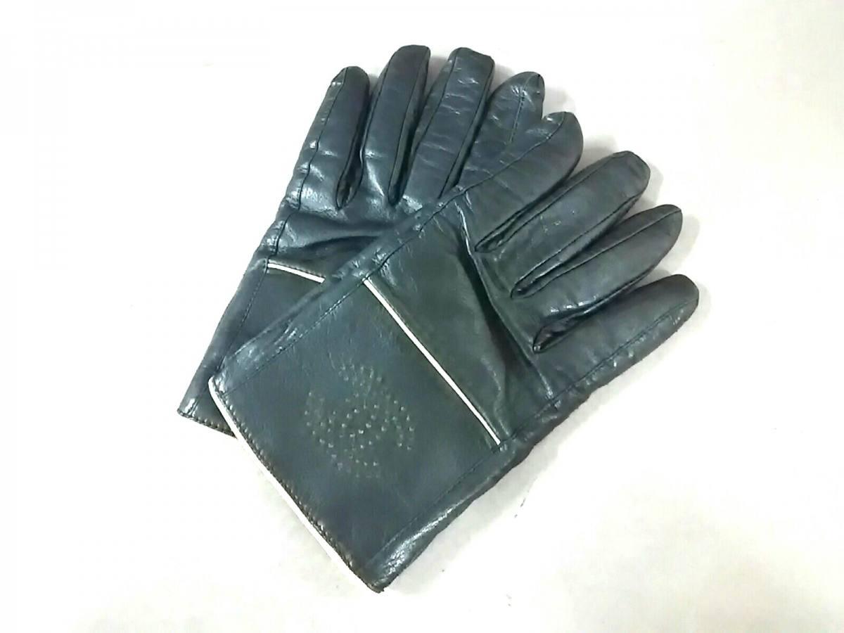 CHANEL(シャネル) 手袋 レディース 黒×アイボリー ココマーク レザー【中古】