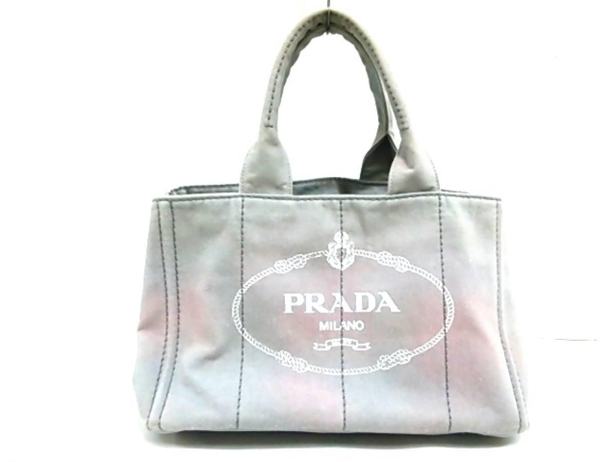 PRADA(プラダ) トートバッグ CANAPA B1877B グレー キャンバス【中古】