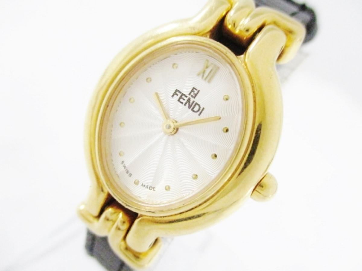 FENDI(フェンディ) 腕時計 640L レディース 白【中古】