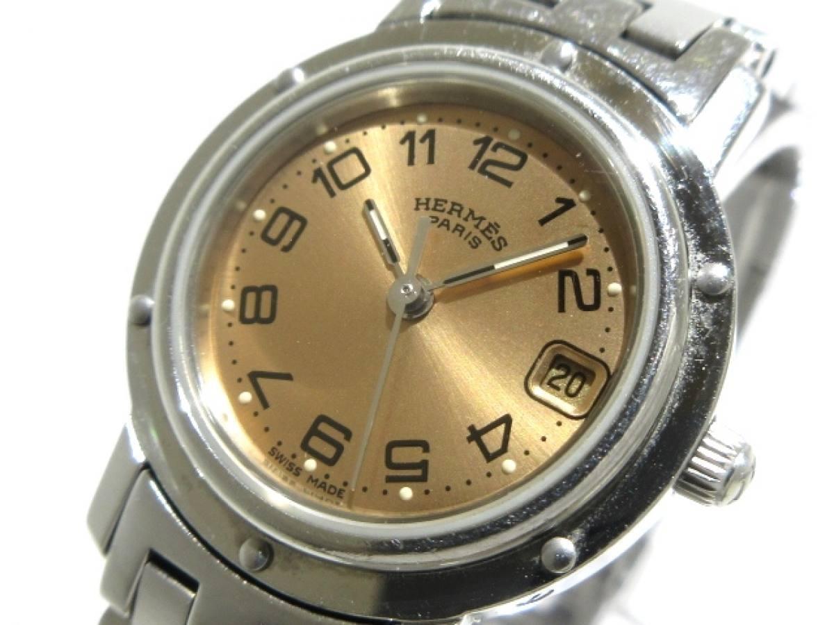 HERMES(エルメス) 腕時計 CL4.210 レディース ピンク【中古】