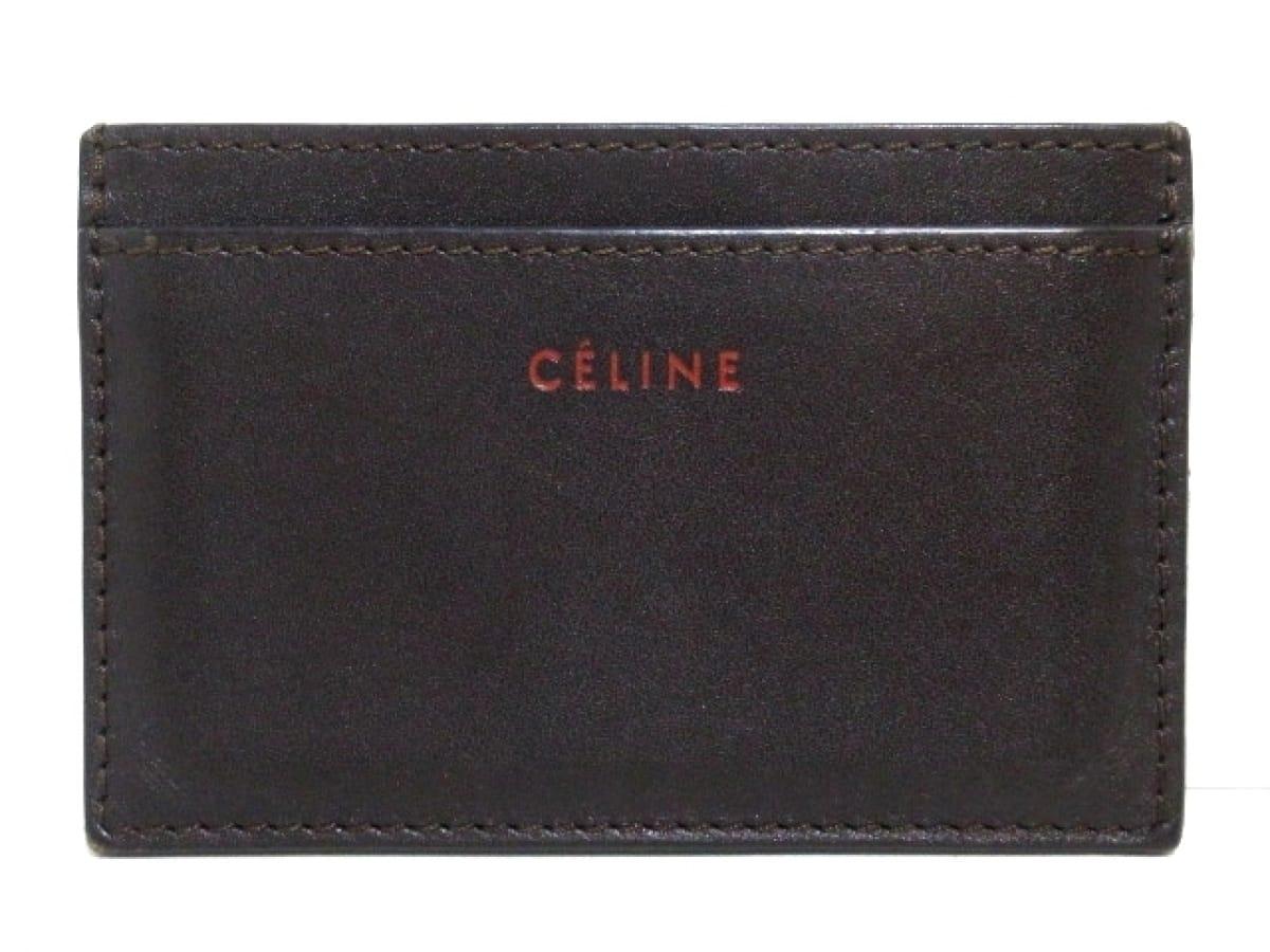 CELINE(セリーヌ) カードケース - ダークブラウン レザー【中古】