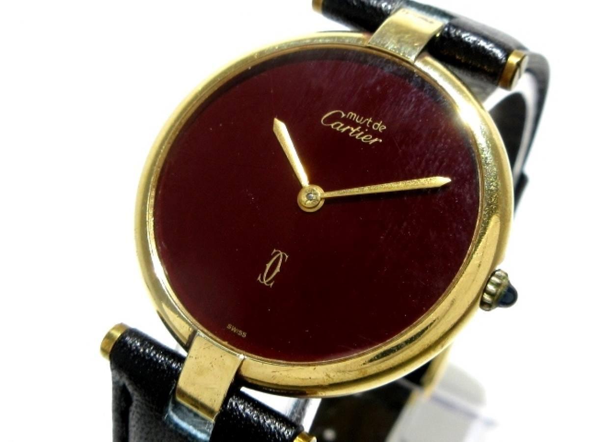 Cartier(カルティエ) 腕時計 マストヴェルメイユ - ボーイズ ボルドー【中古】
