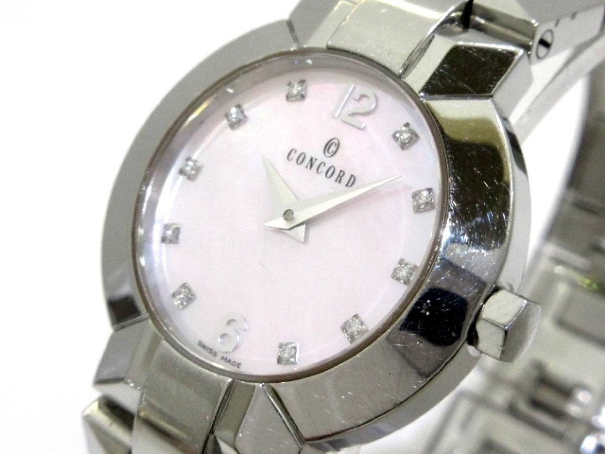 CONCORD(コンコルド) 腕時計 エスシール 14.G4.1843 レディース ピンクシェル【中古】