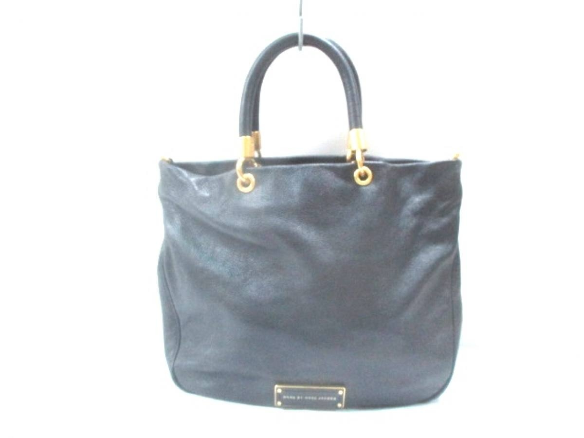 MARC BY MARC JACOBS(マークバイマークジェイコブス) トートバッグ - 黒 レザー【中古】