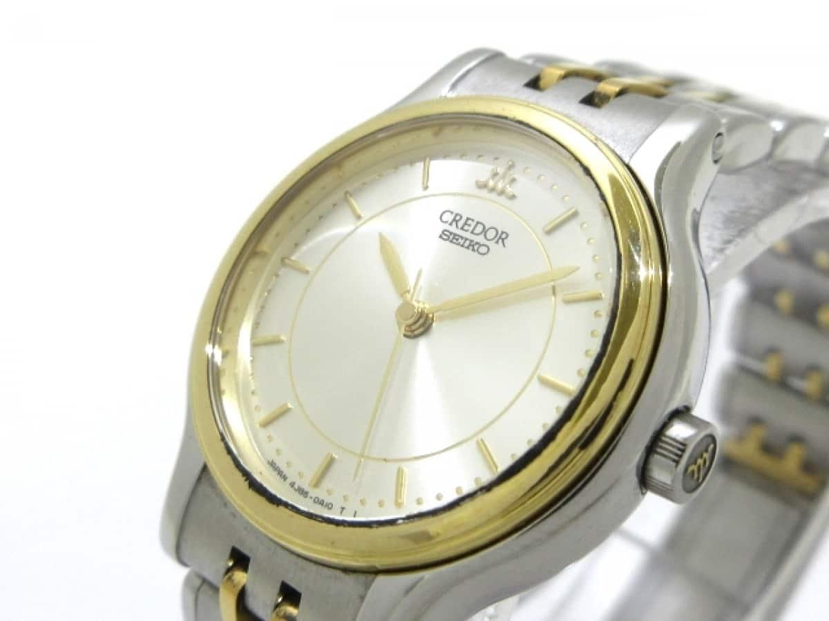 SEIKO(セイコー) 腕時計美品■ CREDOR(クレドール) 4J85-0A10 レディース シルバー【中古】