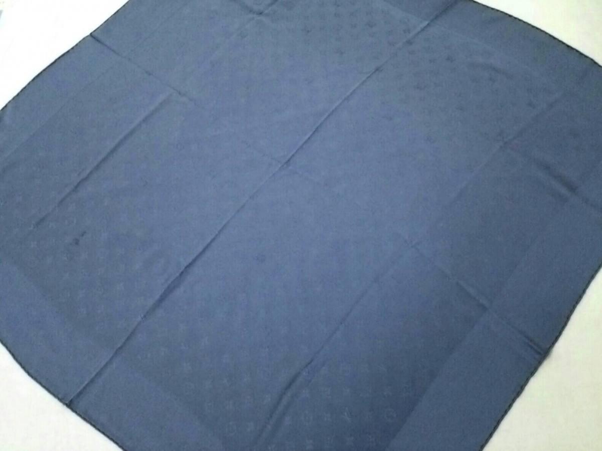 LOUIS VUITTON(ルイヴィトン) スカーフ美品■ カレ・モナコ M71138 ダークネイビー シルク100%【中古】