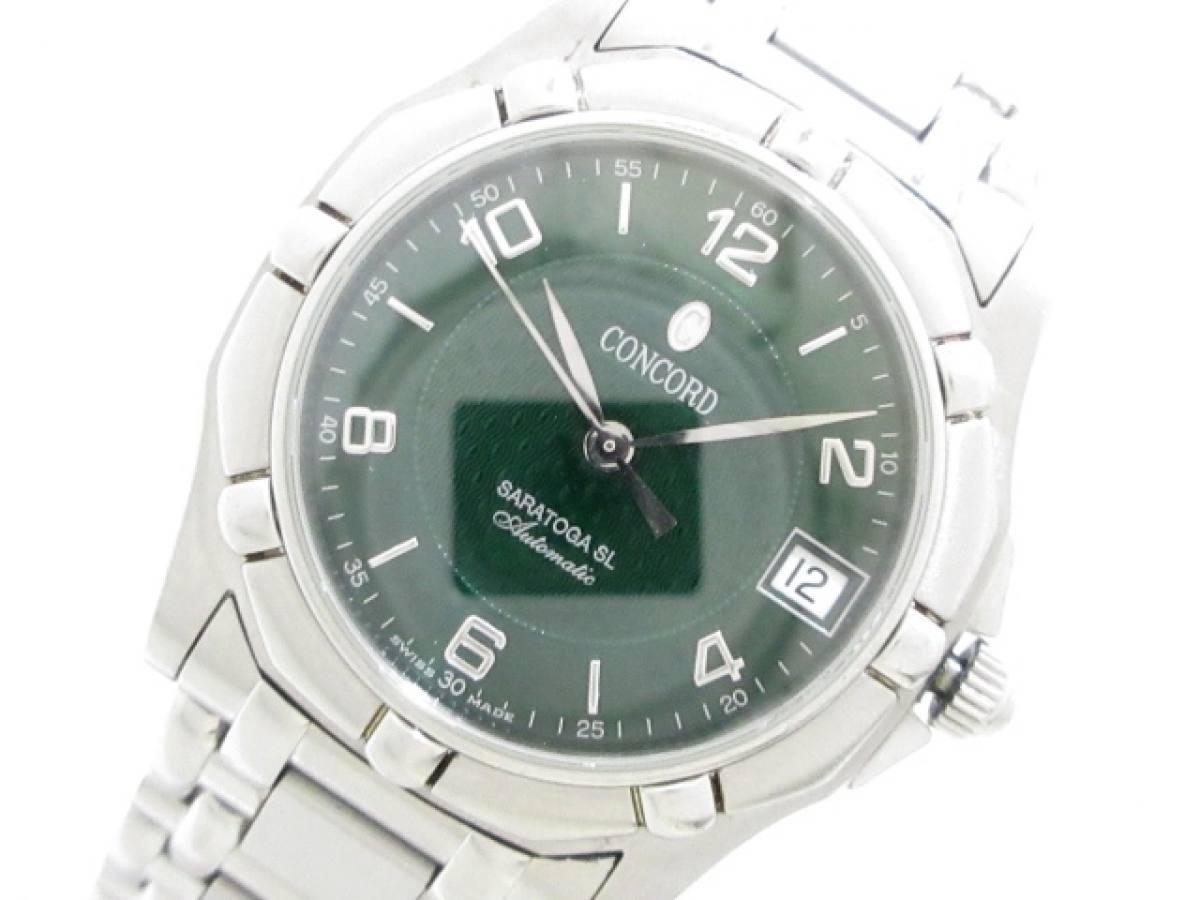 CONCORD(コンコルド) 腕時計■ サラトガSL 14.A9.230 メンズ ダークグリーン【中古】