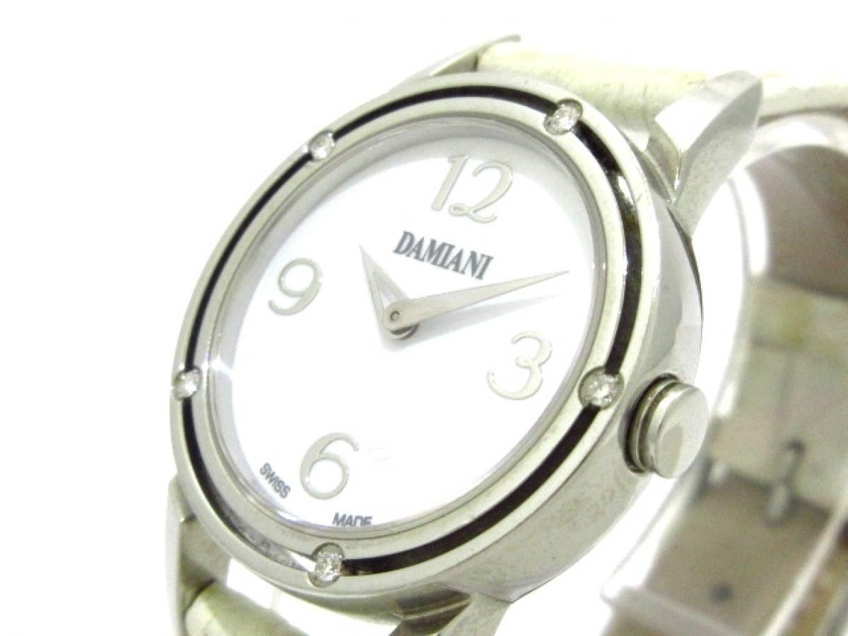 DAMIANI(ダミアーニ) 腕時計 D・SIDE DS006ACAJ レディース 白【中古】