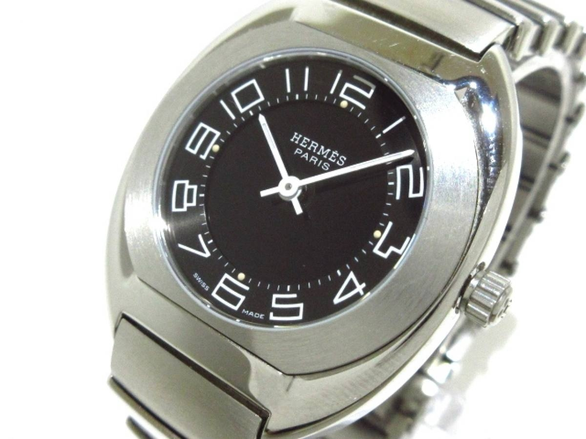 HERMES(エルメス) 腕時計 エスパス ES1.210 レディース 黒【中古】