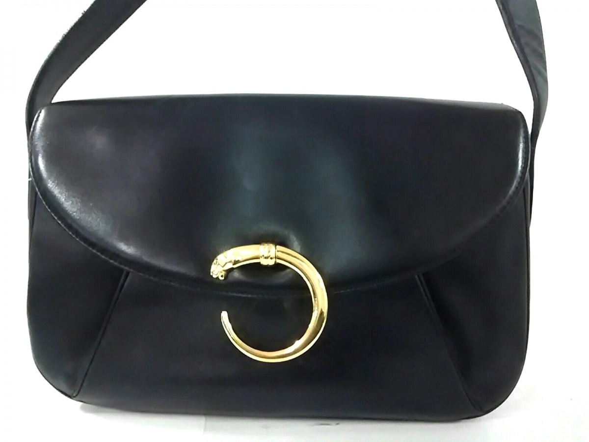 Cartier(カルティエ) ショルダーバッグ美品■ パンテール 黒 レザー【中古】