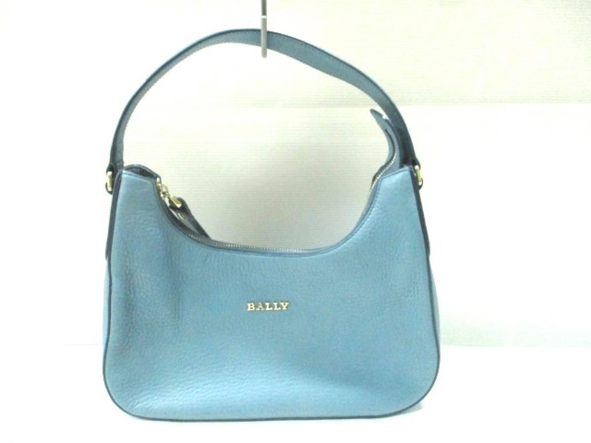 BALLY(バリー) ハンドバッグ美品■ ライトブルー レザー【中古】