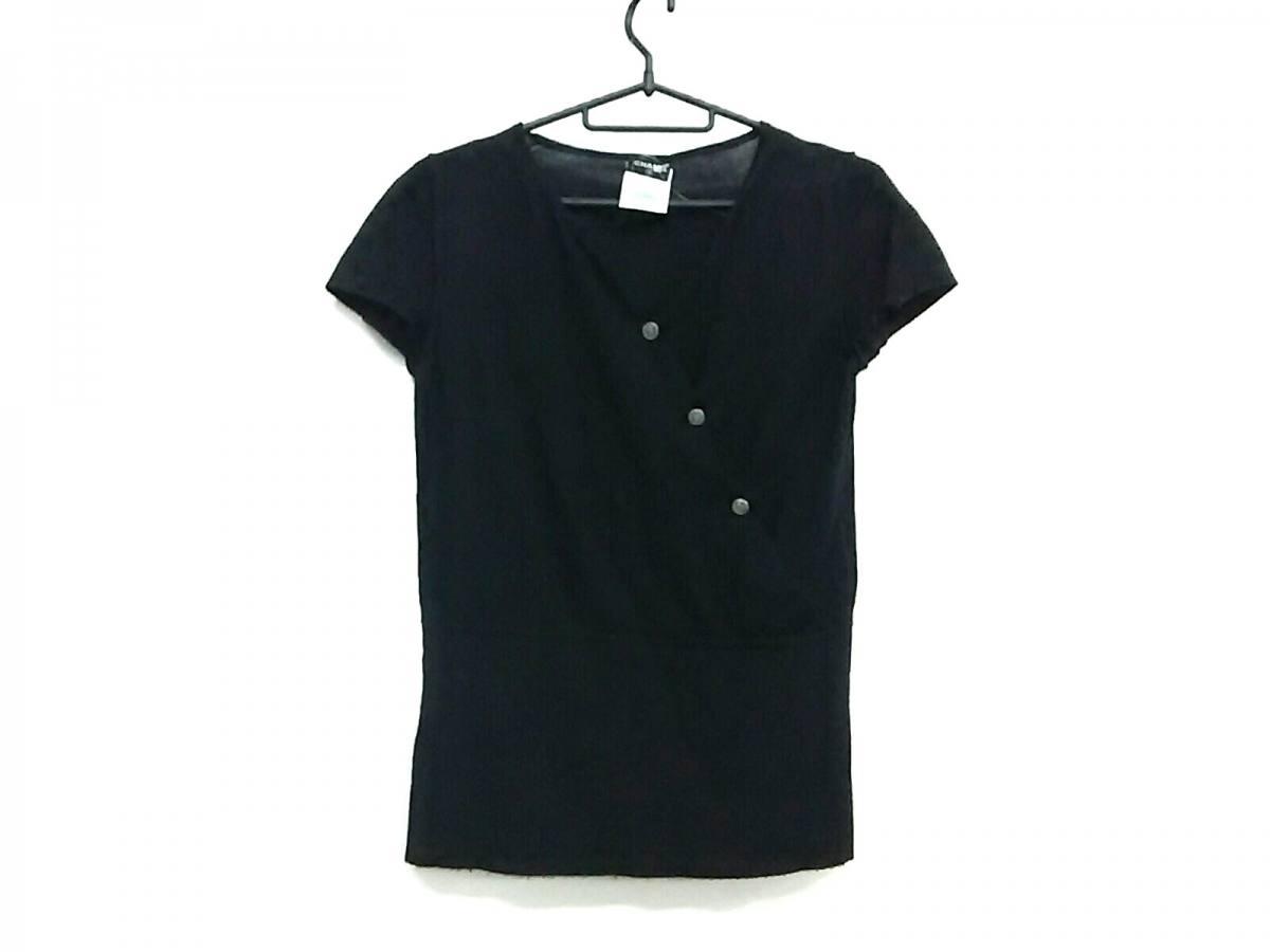 CHANEL(シャネル) 半袖セーター サイズ38 M レディース P31498 黒 カシミヤ・シルク【中古】