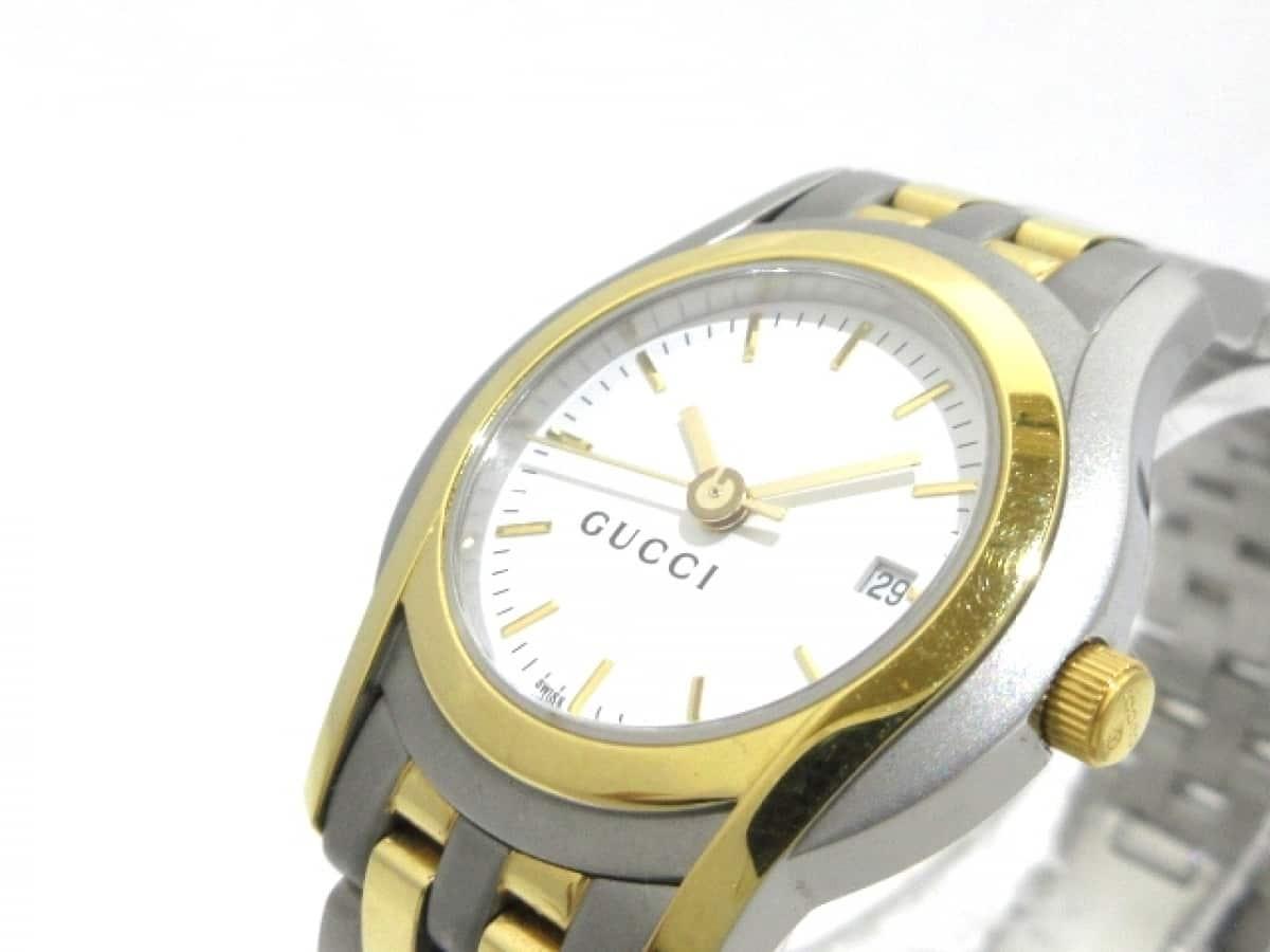 GUCCI(グッチ) 腕時計美品■ 5500L レディース 白【中古】