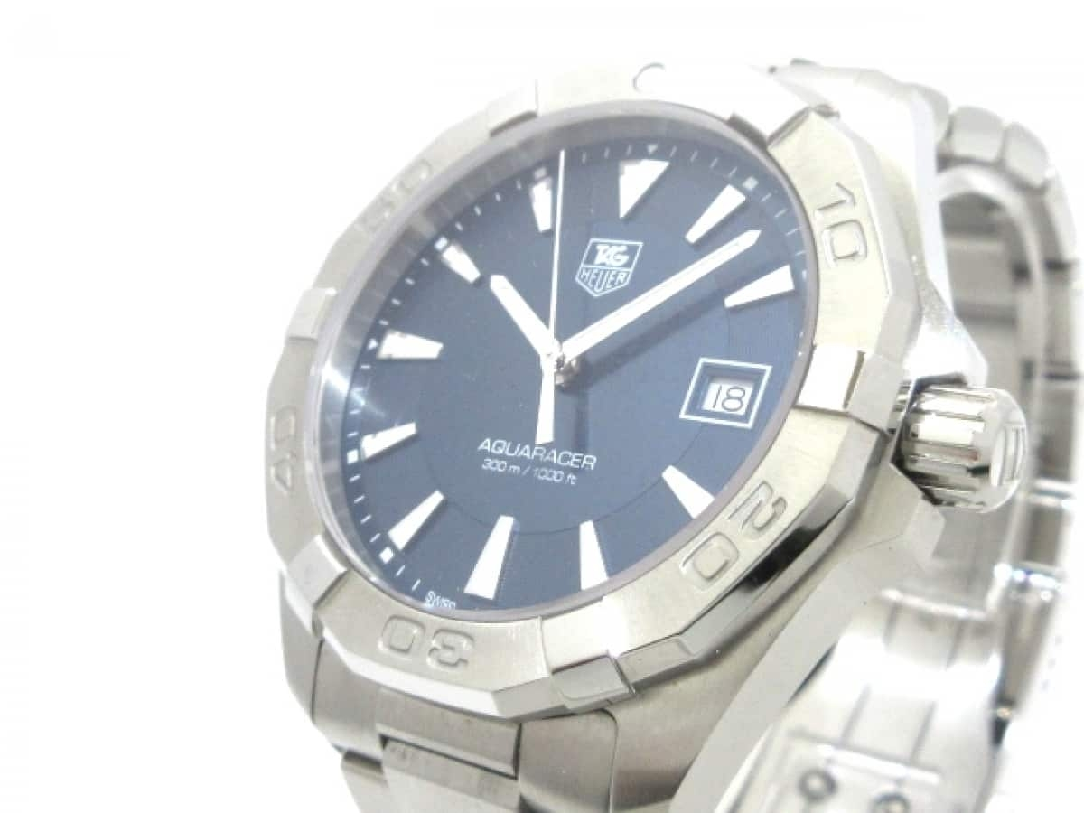 TAG Heuer(タグホイヤー) 腕時計美品■ アクアレーサー WAY1112 メンズ ダークネイビー【中古】