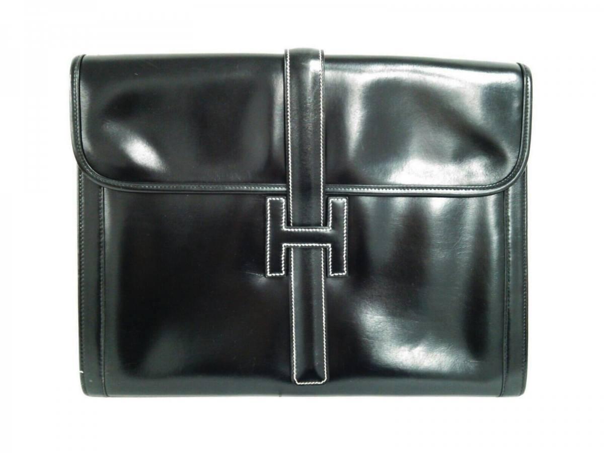 694e2144d654 クラッチバッグ ジジェGM 黒 ボックスカーフ【中古】 HERMES(エルメス)-クラッチバッグ・セカンドバッグ
