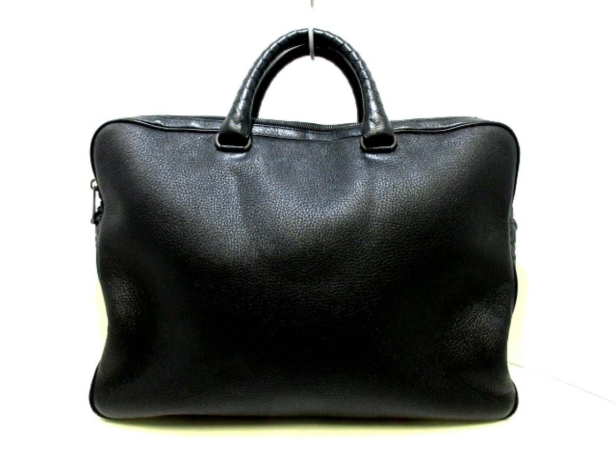 BOTTEGA VENETA(ボッテガヴェネタ) ビジネスバッグ イントレチャート B06312199Y 黒 レザー【中古】