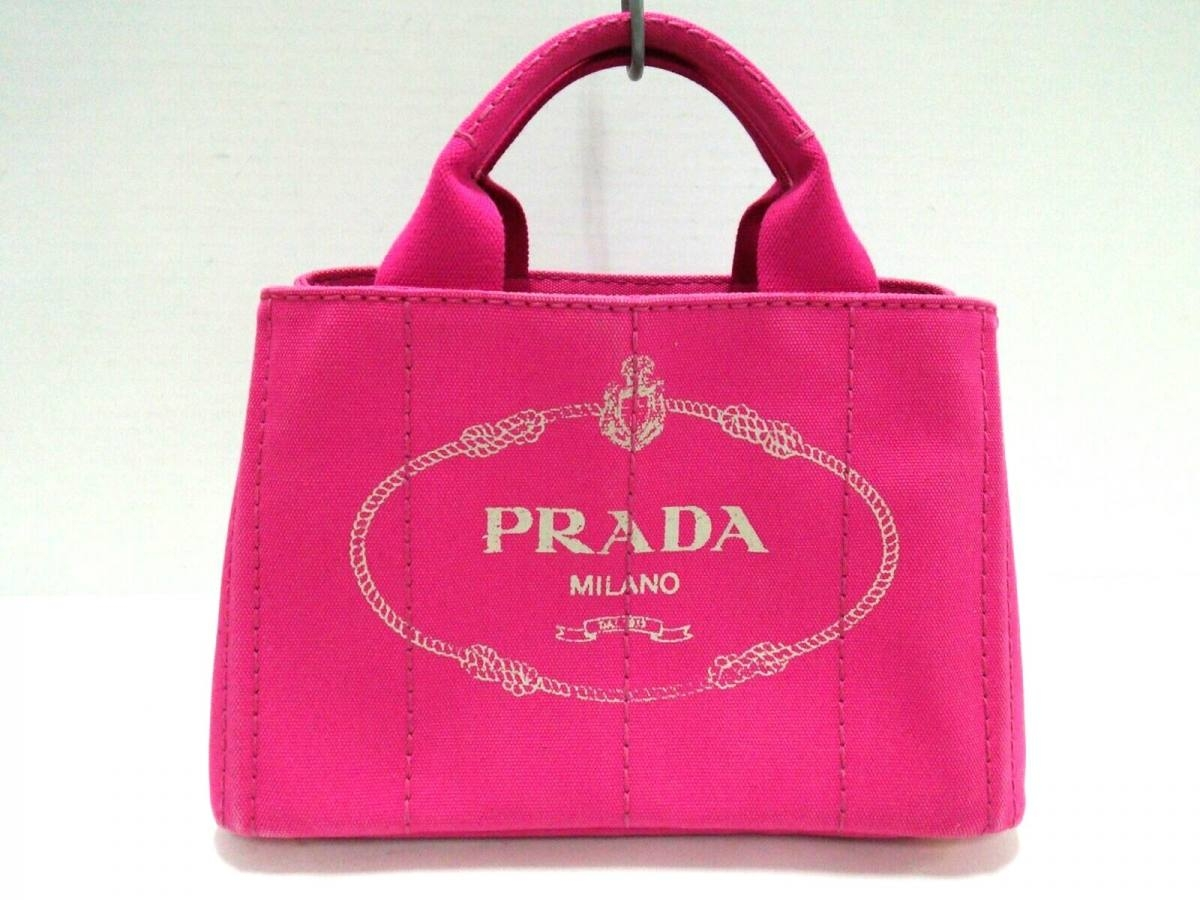 new arrivals 4d35a 098fd PRADA(プラダ) トートバッグ CANAPA ピンク キャンバス【中古 ...