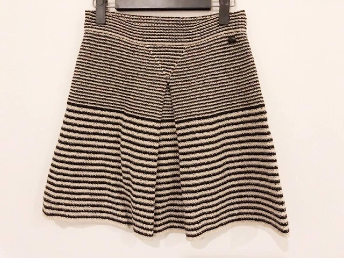 CHANEL(シャネル) スカート サイズ36 S レディース美品■ 黒×ベージュ【中古】