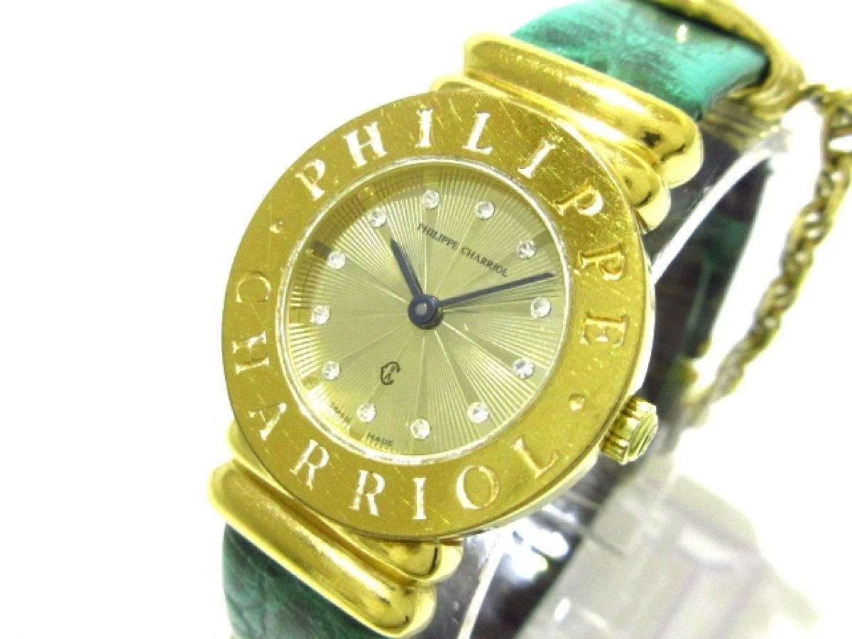 PHILIPPE CHARRIOL(フィリップシャリオール) 腕時計 サントロペ 7007901 レディース ゴールド【中古】