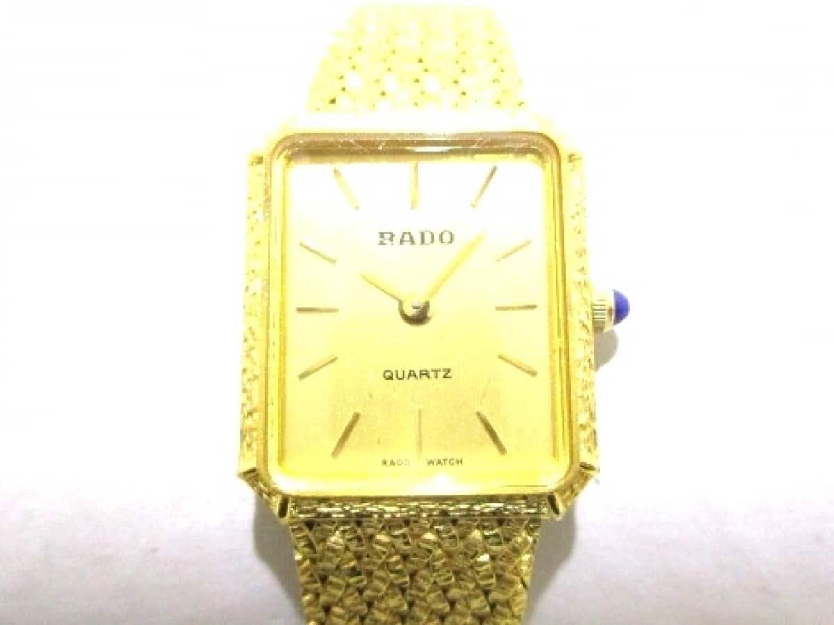 RADO(ラドー) 腕時計 133.9579.2 レディース ゴールド【中古】
