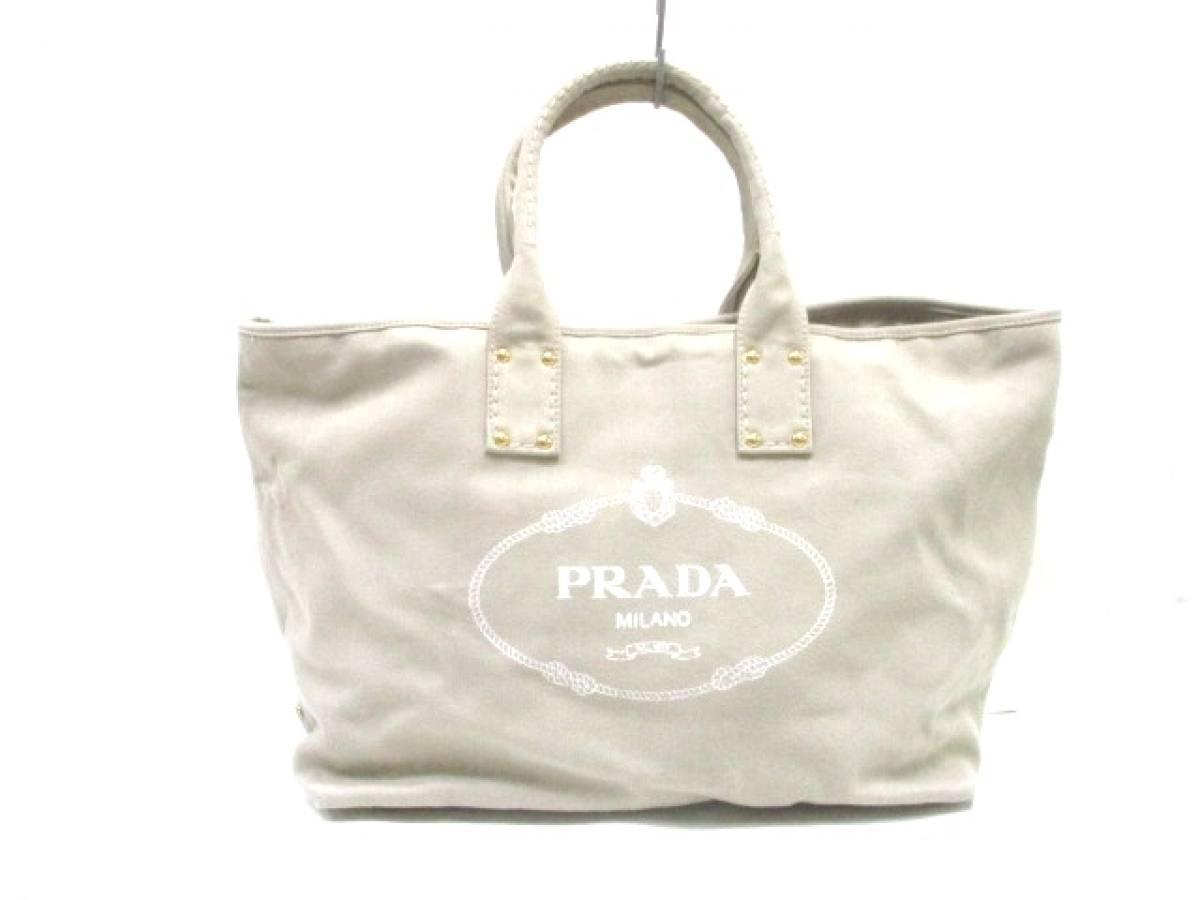 wholesale dealer 5efbb 7e035 本物新品保証】 PRADA(プラダ) トートバッグ - ベージュ ...