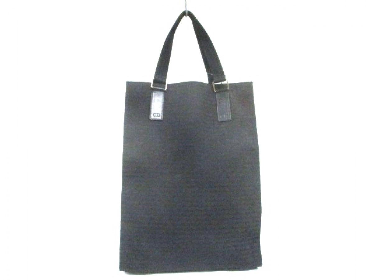 Dior HOMME(ディオールオム) トートバッグ 黒 ジャガード【中古】