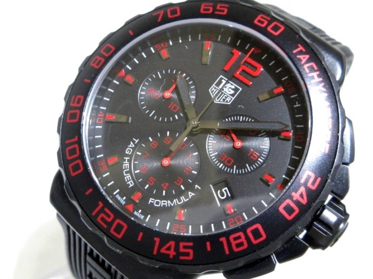 TAG Heuer(タグホイヤー) 腕時計美品■ フォーミュラー1 クロノグラフ CAU111D メンズ 黒【中古】