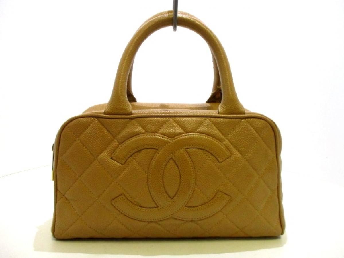 CHANEL(シャネル) ハンドバッグ マトラッセ A20996 ベージュ ミニボストン/ゴールド金具 キャビアスキン【中古】