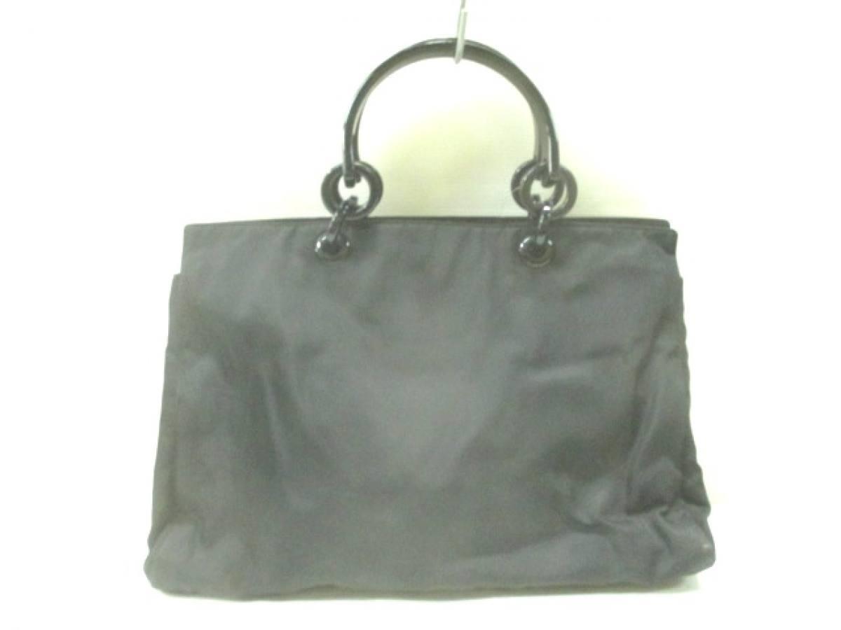 PRADA(プラダ) ハンドバッグ - 黒 プラスチックハンドル ナイロン×プラスチック【中古】