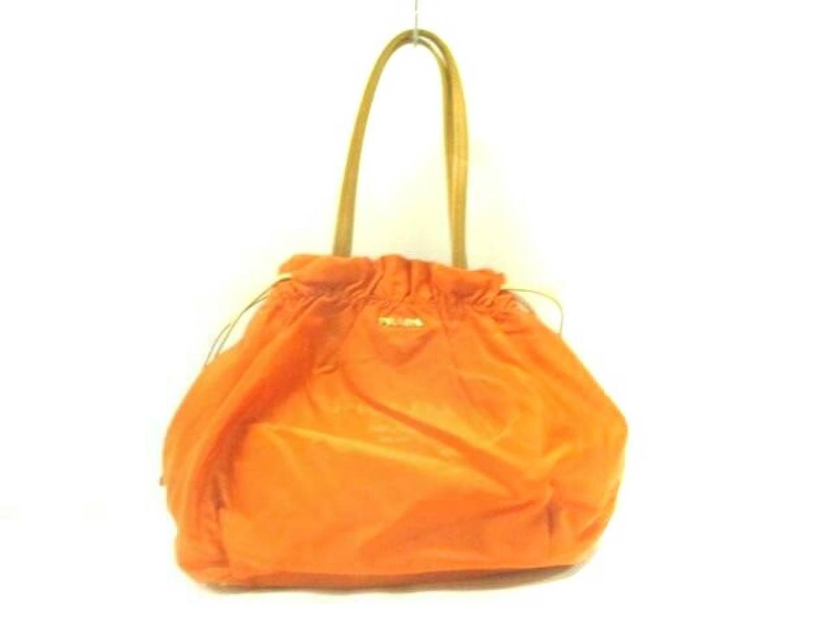 e59e1a4da1db 【新着】PRADA(プラダ) トートバッグ ロゴジャガード オレンジ×ライトブラウン 革