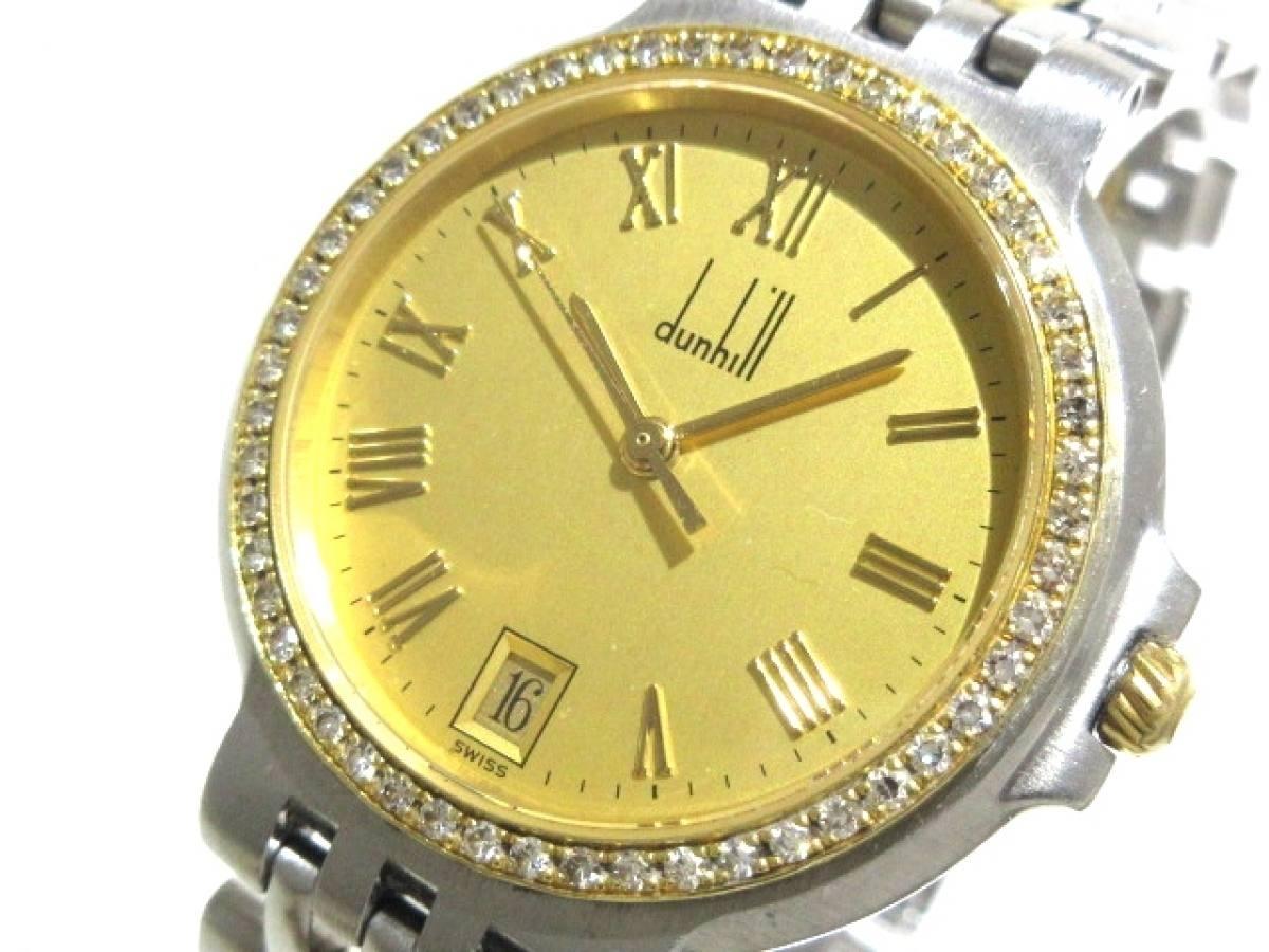 dunhill/ALFREDDUNHILL(ダンヒル) 腕時計 エリート 24QWSM レディース ゴールド【中古】