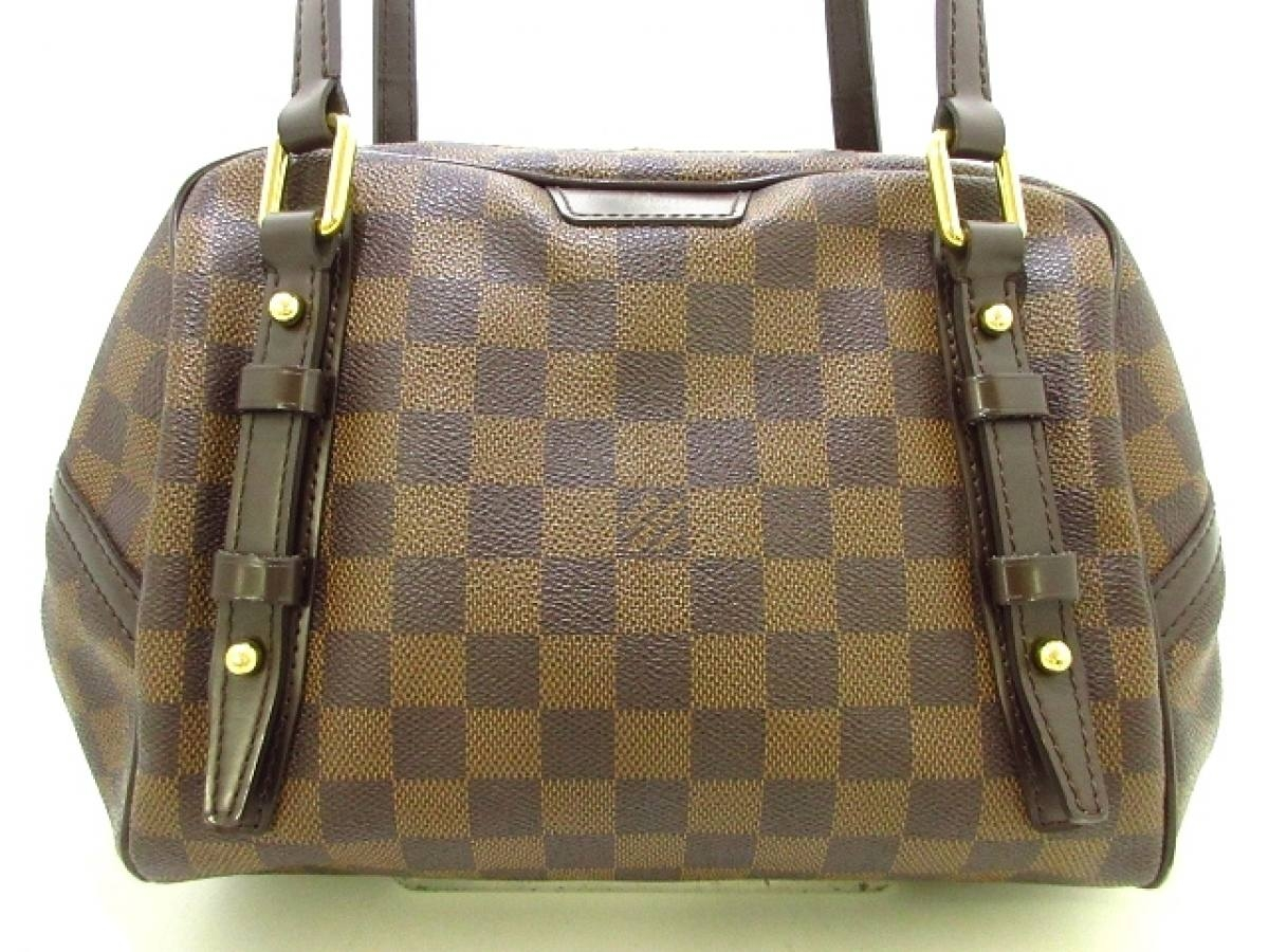 LOUIS VUITTON(ルイヴィトン) ショルダーバッグ ダミエ美品■ リヴィントンPM N41157 エベヌ ダミエ・キャンバス【中古】
