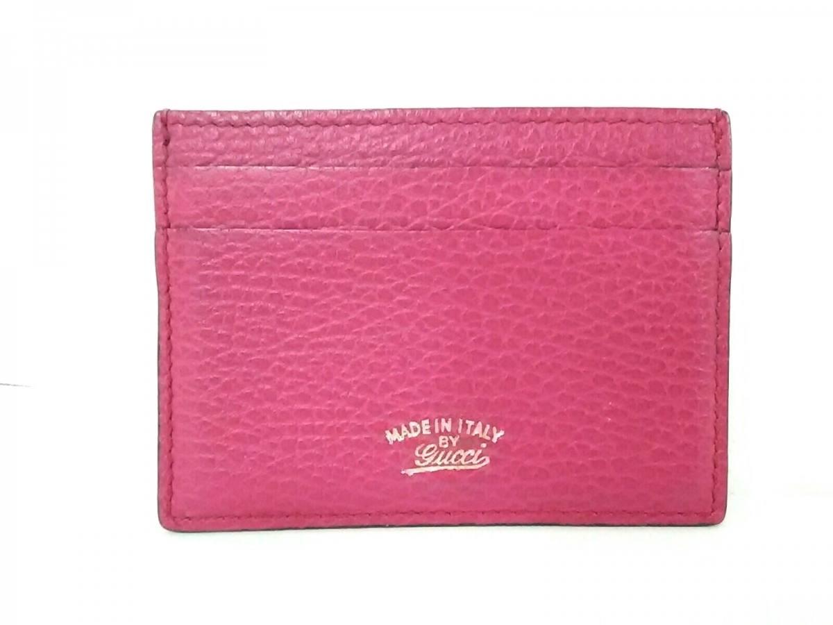 GUCCI(グッチ) カードケース美品■ - 368876 ピンク レザー【中古】